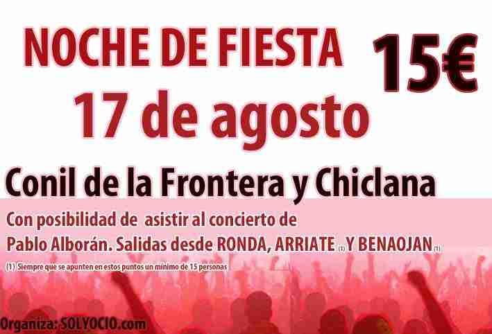 Noche de Fiesta en Conil de la Frontera y Chiclana