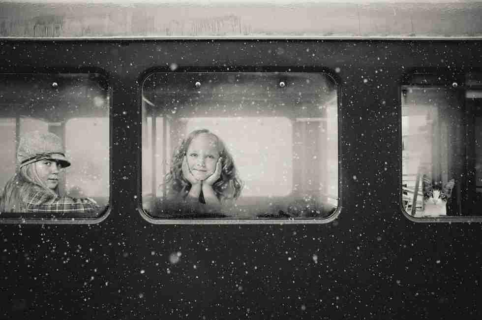 Excursión en tren con niños