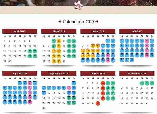 Calendario Isla Mágica 2019