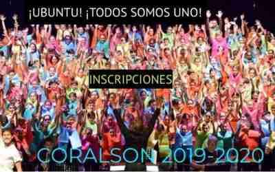 INSCRIPCIONES  CORALSÓN 2020: !!UBUNTU!! TODOS SOMOS UNO
